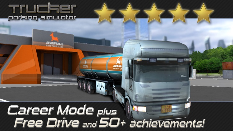 Trucker: Parking Simulator - Realistic 3D Monster Truck and Lorry 'Driving Test' Free Racing Game screenshot-1
