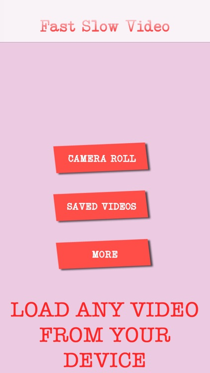 Fast Slow Video Creator - Make slow motion and fast videos