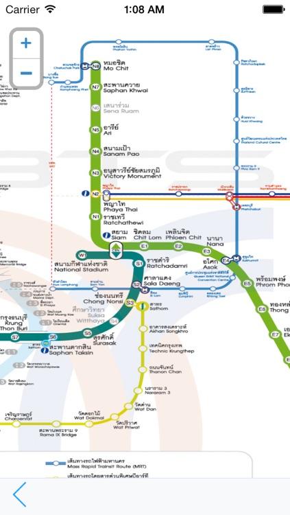 Bangkok Metro Map Transport - Sky train and Boat