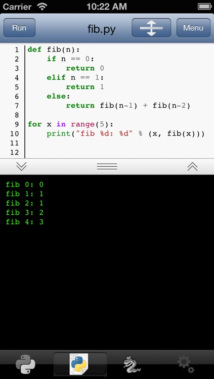 Python 3.2 for iOS screenshot-1