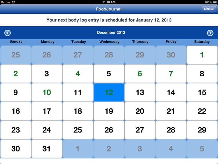 FoodJournal for iPad