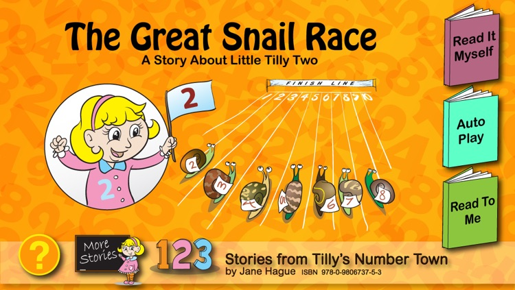 The Great Snail Race, Tilly's Number Town Talking Book.