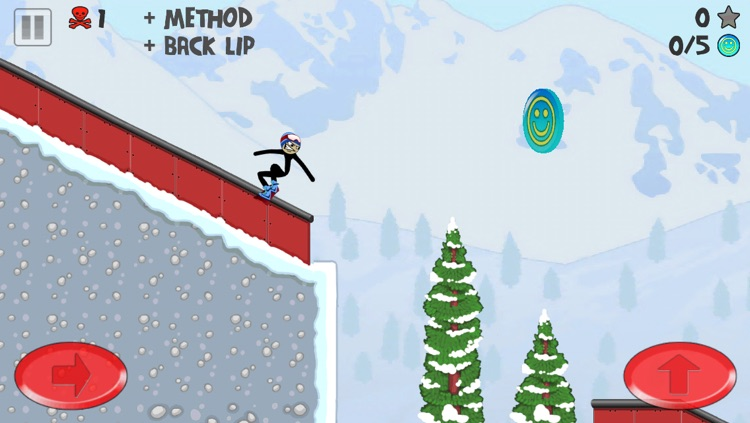 Stickman Snowboarder screenshot-1