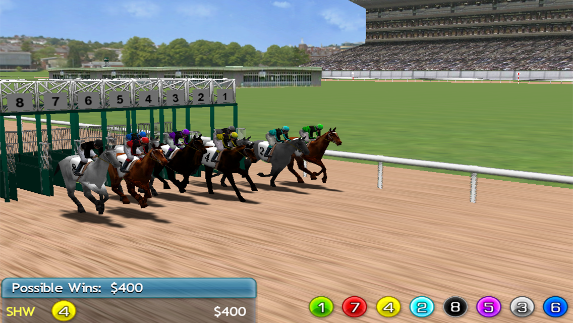 Virtual Horse Racing 3D Lite Screenshot