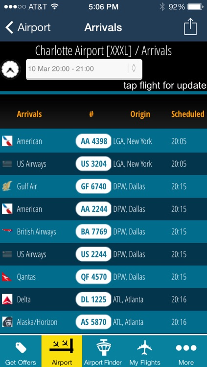Charlotte Airport - Flight Tracker CLT Douglas American screenshot-2