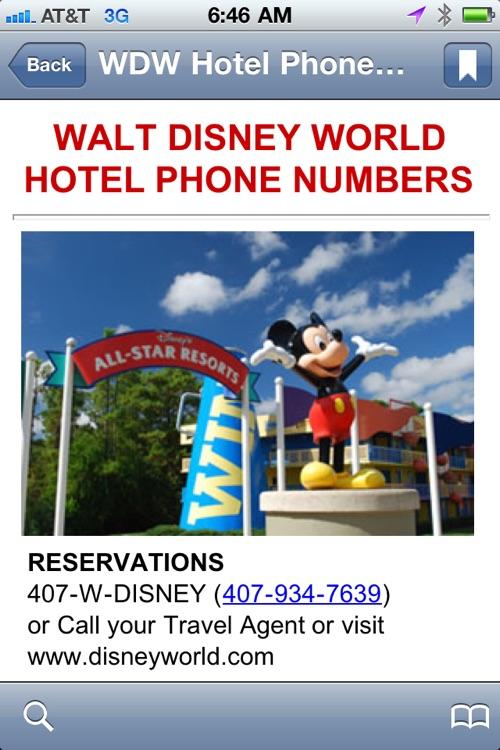 Walt Disney World Phone Numbers screenshot-3