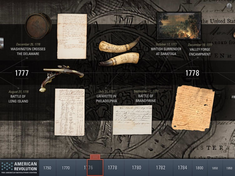 American Revolution Interactive Timeline for iPad