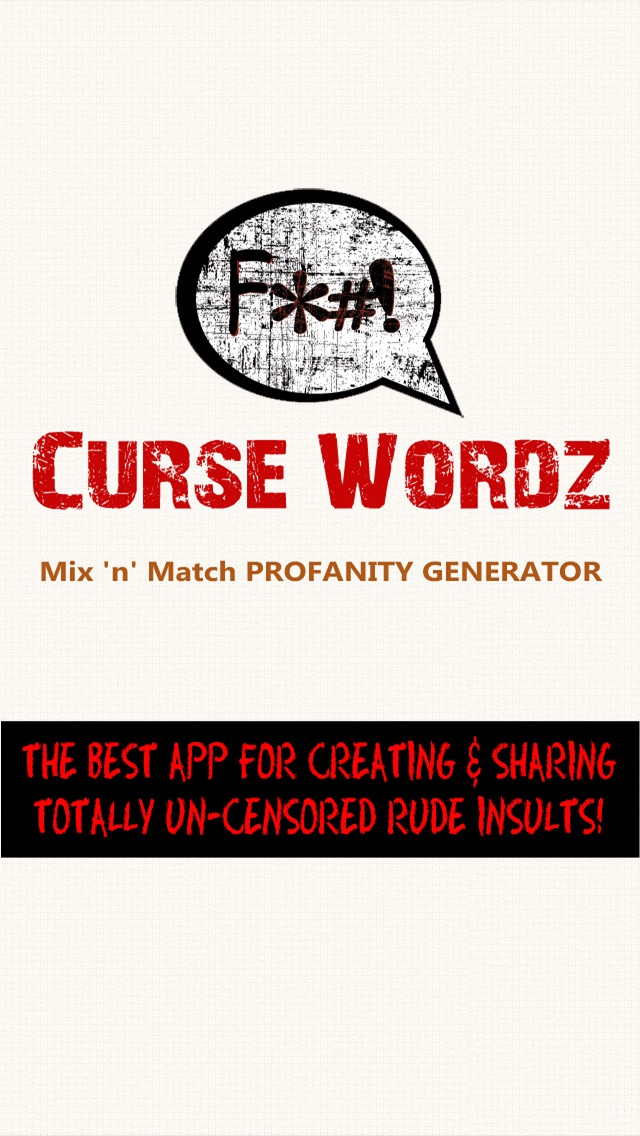 Curse Wordz WTF! The Rude Comeback Mix 'n' Match Profanity Word Funny Status Name Generator screenshot one