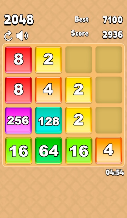 2048 candy swipe tiles game adventure by seven sails comunicacao e