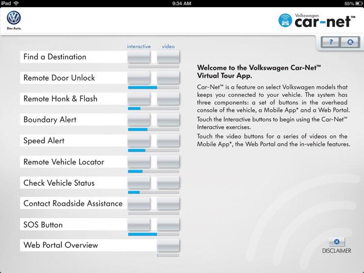 Volkswagen Car-Net Virtual Tour