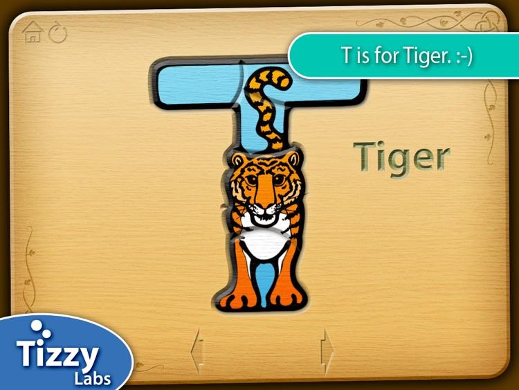 Tizzy Animal Alphabet Puzzles HD screenshot-3
