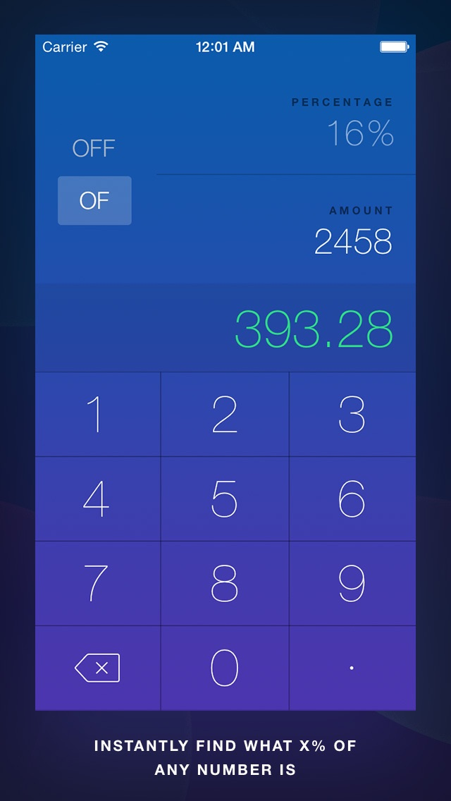 OffOf - Percentage Calculator screenshot two