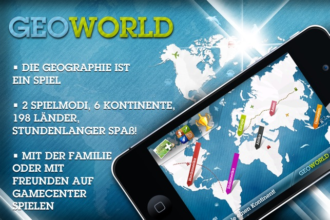 geoworld lerne geografie mit spa im app store. Black Bedroom Furniture Sets. Home Design Ideas