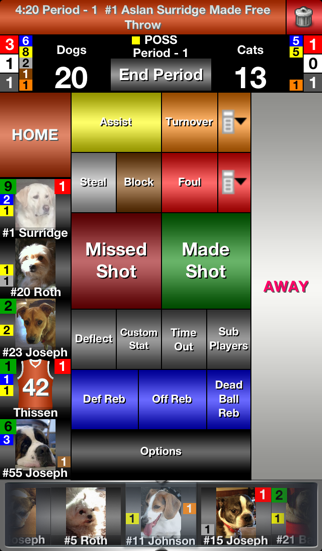 iTouchStats Basketball screenshot one