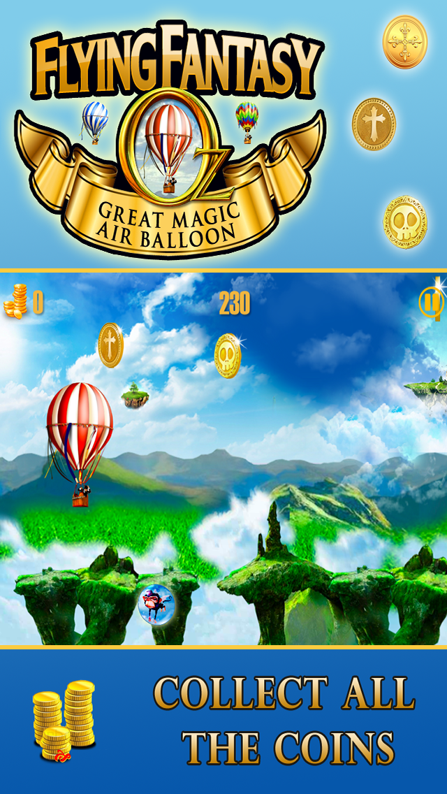 Oz Flying Fantasy-A Great Race Game in the Magical Hot Air Balloon screenshot four