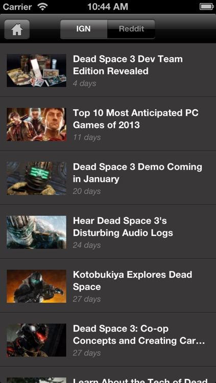 IGN App For Dead Space 3 screenshot-1