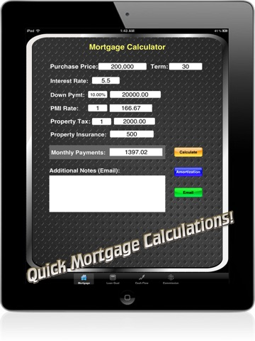 Real Estate Calc: Mortgage & Home Loan Qualification Calculator-ipad-0