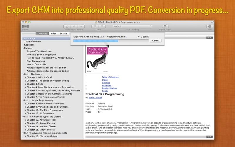 Read CHM+ : The CHM Reader + Export to PDF скриншот программы 2