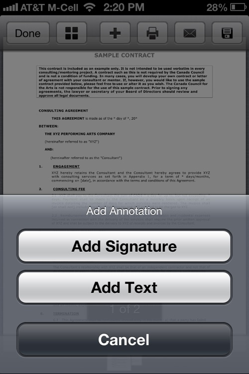 PDF Sign for iPhone : Sign and fill PDF documents