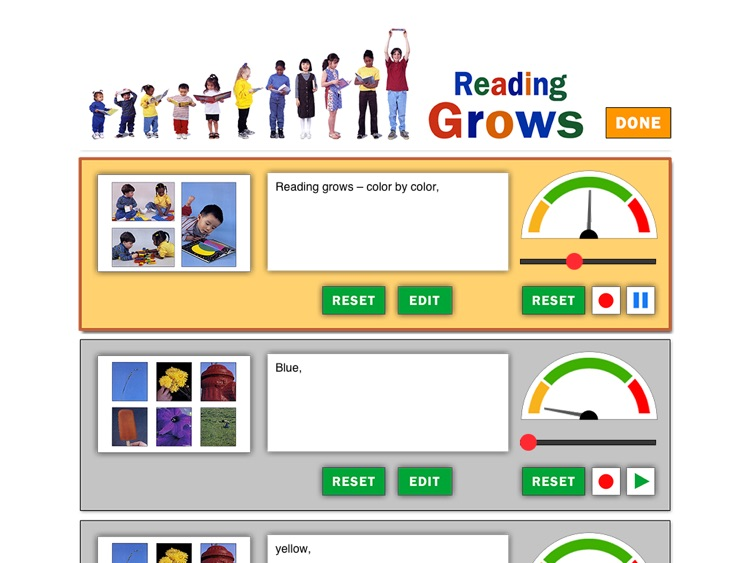Reading Grows is an interactive app for kids which celebrates reading and reassures those involved in the learning process that becoming a reader does not happen overnight; written and photographed by Ellen B. Senisi. (Lite version; by Auryn Apps) screenshot-3