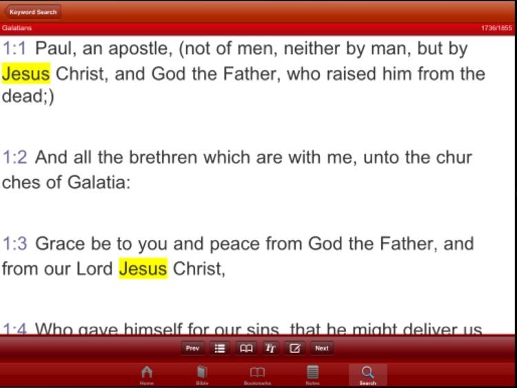 Updated King James Version Bible screenshot-4
