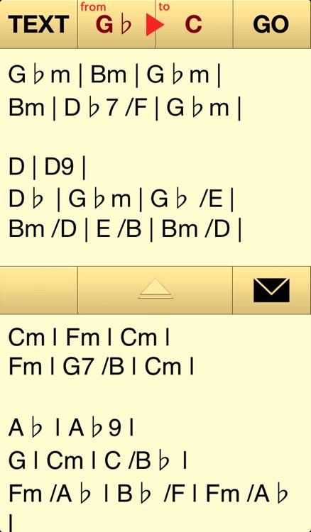 Trans Chord  - music guitar chord transposition / chord editor screenshot-3