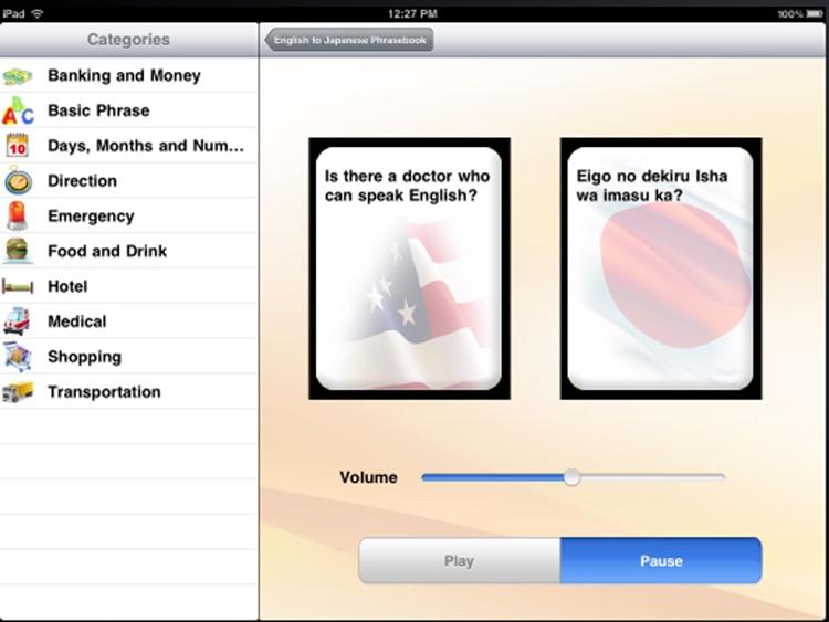 English to Japanese Talking Phrasebook - Learn Japanese