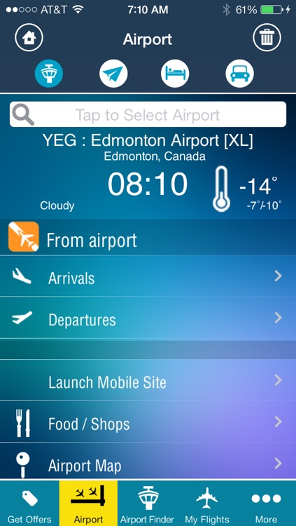 Edmonton Airport+Flight Tracker air YEG Canada