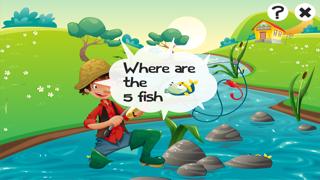 對於2-5歲的幼兒對遊戲釣魚:遊戲,拼圖和謎語的幼兒園,學前班或幼兒園。 學習 與海,水,魚,漁民和漁桿.屏幕截圖3