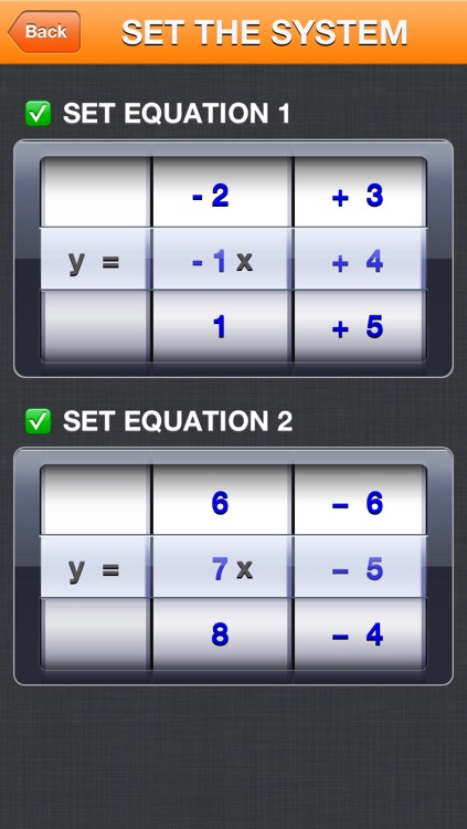 Solving a system of 2 equations in 2 unknowns