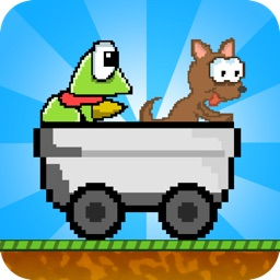 Hoppy Cart : A Frog And Puppy Kart Ride Game