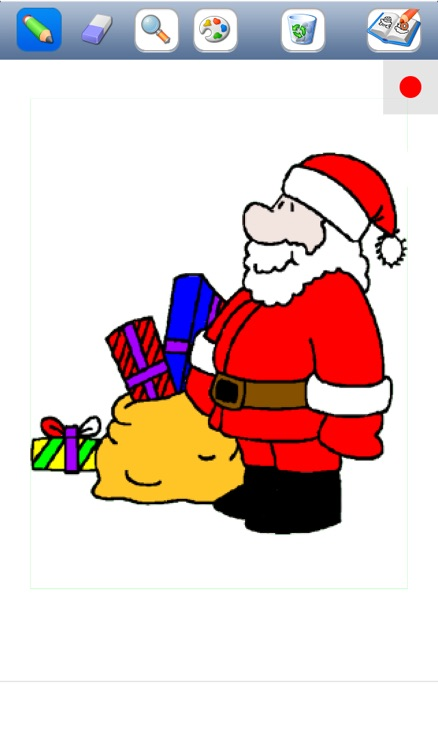 Christmas colorings for kids with colored pencils - 24 drawings to color with Santa Claus, christmas trees, elves, and more