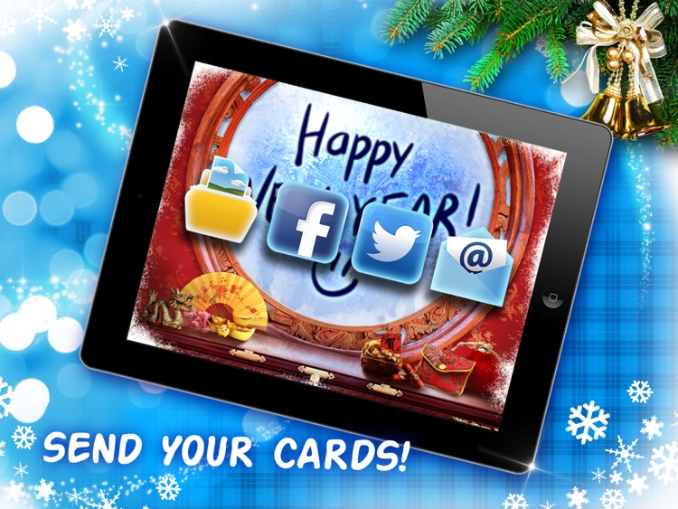 Xmas window - Make winter holiday cards screenshot-3