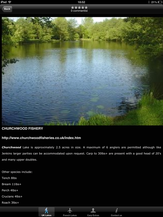Carp Lakes HD - Carp Fishing Venues in the UK & France screenshot-1