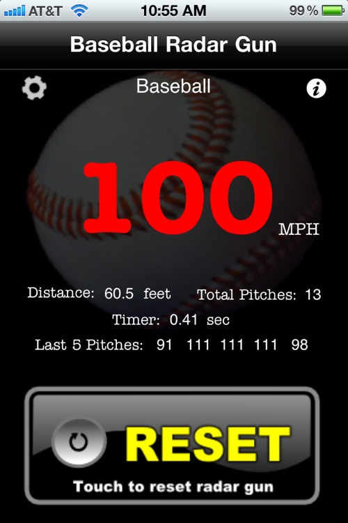 Baseball Radar Gun screenshot-3
