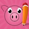子どもたちのための番号でペイント。 塗り絵、 動物、熊、犬、馬、豚、ウサギ及びラットのドット、ゲームや演習を接続します。学ぶためのゲームやパズル、塗料や カウント - iPhoneアプリ