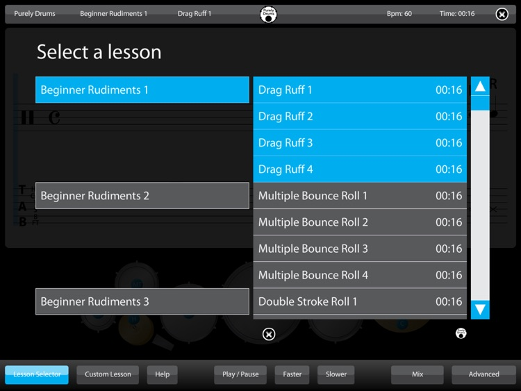 Drums - Learn Lessons & Practice Drumming Drum Skills Rhythm Training Teach Music Patterns Educational with Purely Sight Reading Metronome screenshot-4
