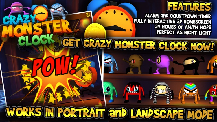 Crazy Monster Clock screenshot-4