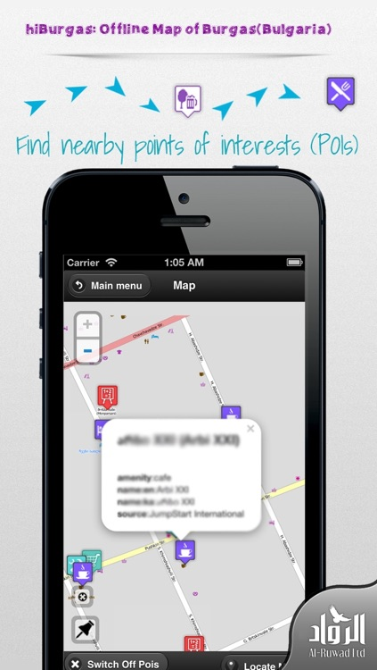 hiBurgas: Offline Map of Burgas(Bulgaria) screenshot-0