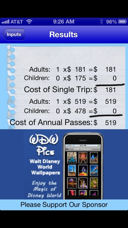 WDW Ticket Calculator - Walt Disney World Ticket Prices screenshot-3