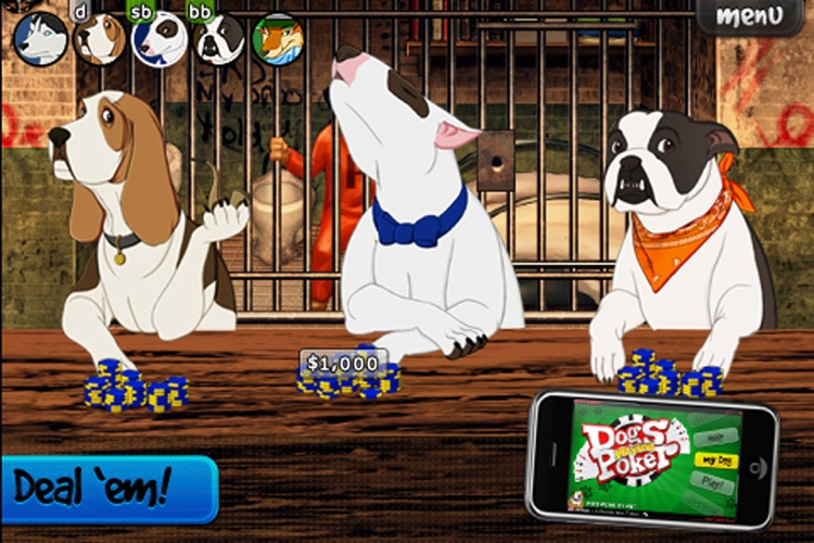 Dogs Playing Poker ~ free Texas hold'em game for all skill levels & dog lovers! screenshot-2