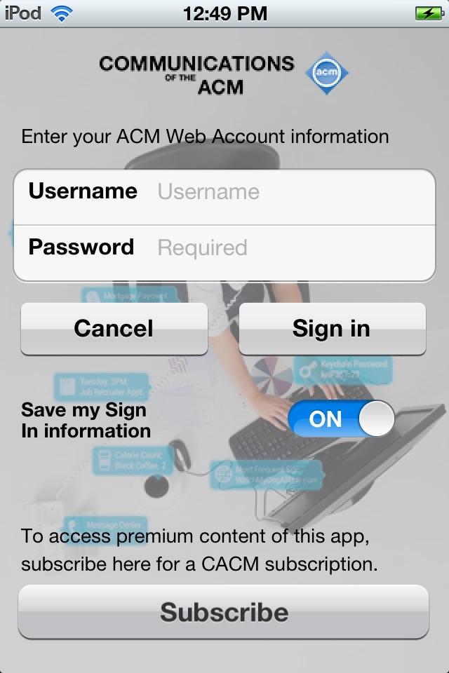 """ACM CACM """"CACM 1-Year"""" hack"""