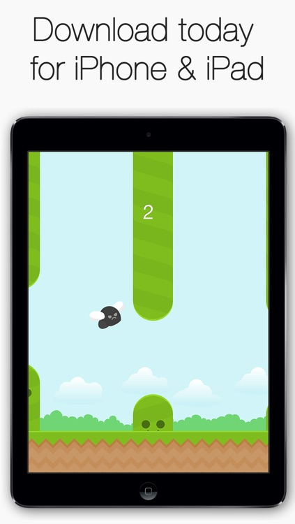 Angry Fly - Flap your bird wings to avoid the hills!