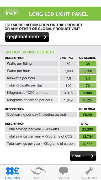 QE Global Energy Saving Calculator screenshot-3