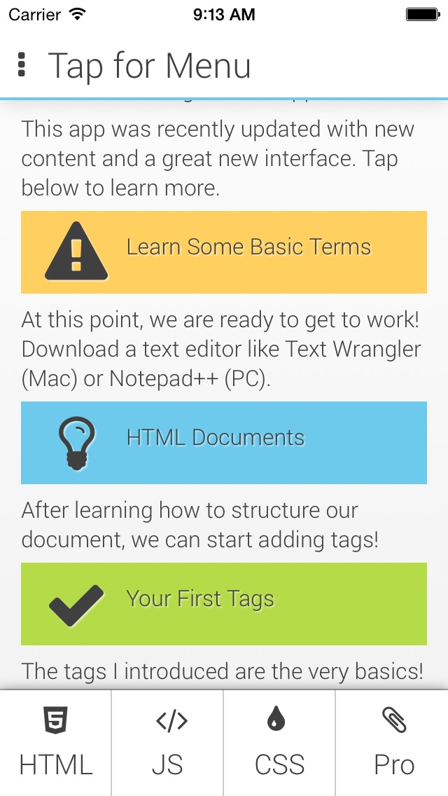 Learn HTML Basics Screenshot