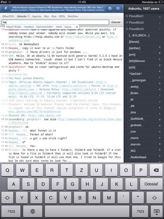 Mango IRC HD - Chat client screenshot-4