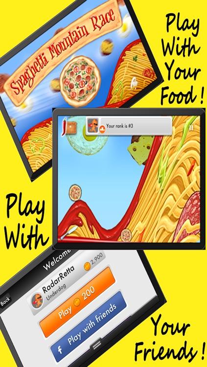 Spaghetti Mountain Race 2 - Crazy Fun Flying Food Race Game