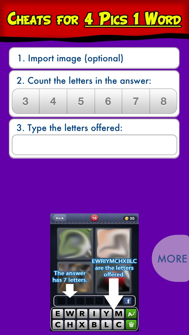 Cheats For 4 Pics 1 Word App Price Drops