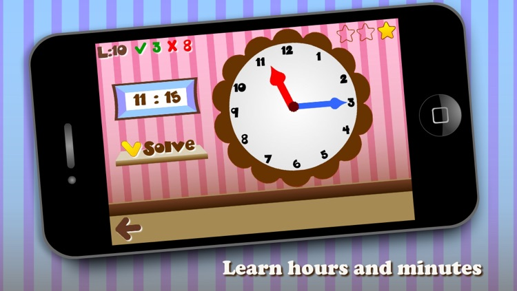 What's time? Telling & Learning Time for Kids — Fun game: Learn how to tell time with interactive Analog clock screenshot-3