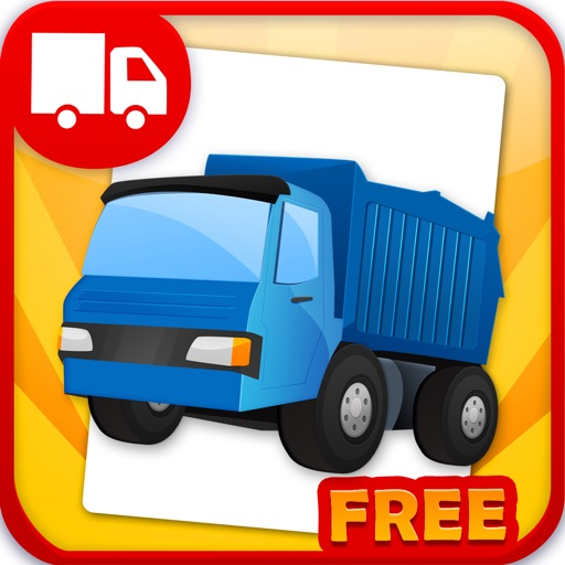 Trucks Flashcards Free  - Things That Go Preschool and Kindergarten Educational Sight Words and Sounds Adventure Game for Toddler Boys and Girls Kids Explorers